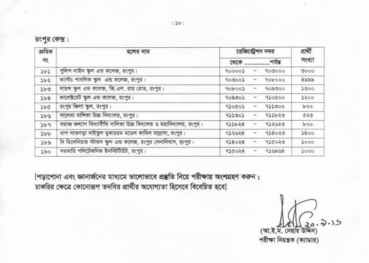 37th BCS preliminary exam schedule