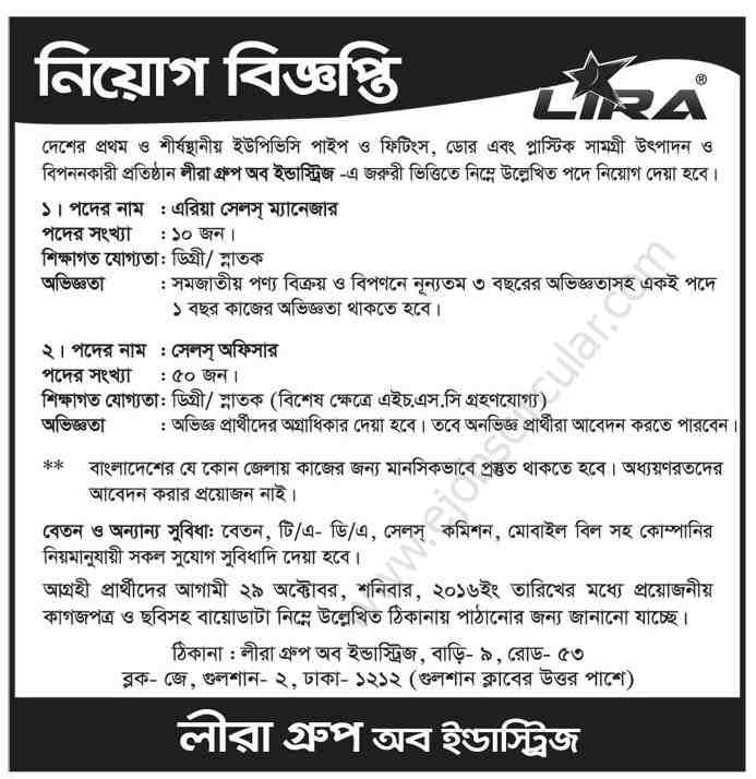 Lira Group of Industries Job Circular